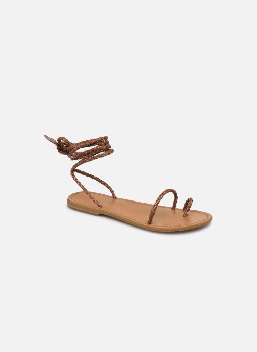 Sandales et nu-pieds White Sun Estrelicia Marron vue détail/paire