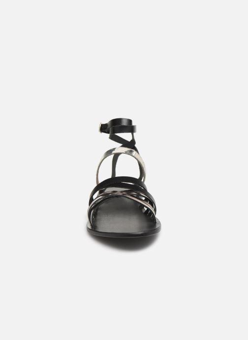 Sandales et nu-pieds White Sun Tresmeur Noir vue portées chaussures