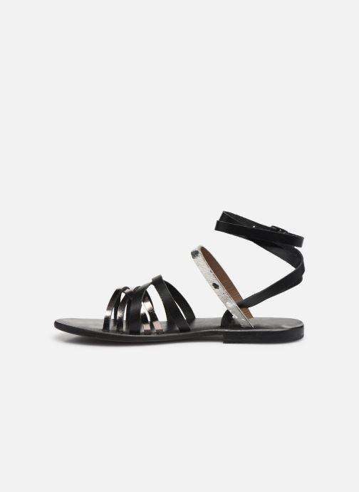 Sandales et nu-pieds White Sun Tresmeur Noir vue face
