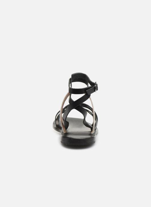 Sandales et nu-pieds White Sun Tresmeur Noir vue droite