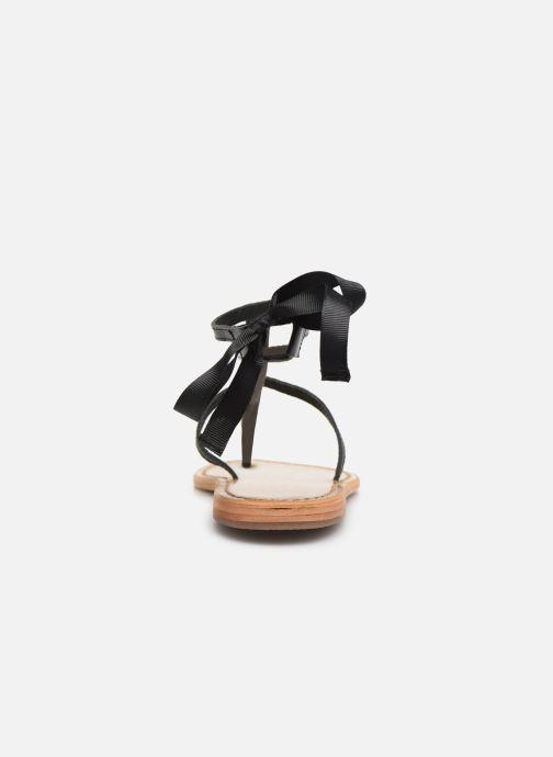 Sandales et nu-pieds White Sun Stipa Noir vue droite