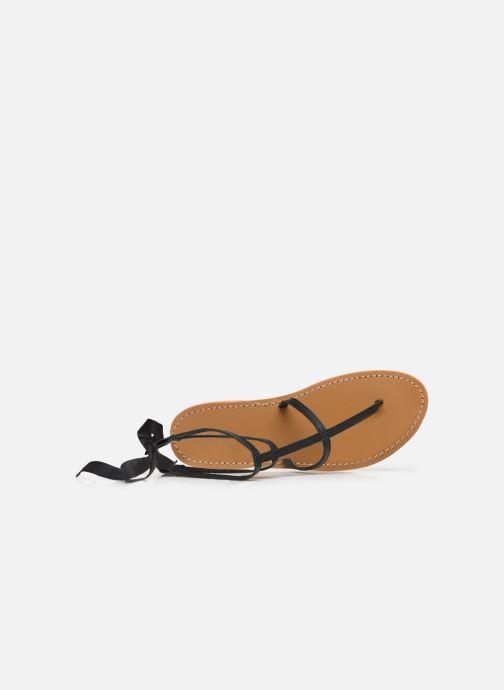 Sandales et nu-pieds White Sun Stipa Noir vue gauche