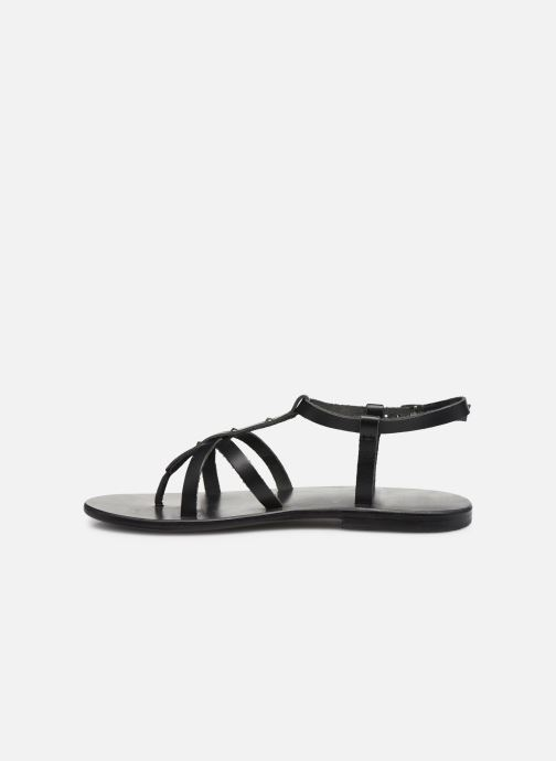 Sandalen White Sun Kerbihan schwarz ansicht von vorne