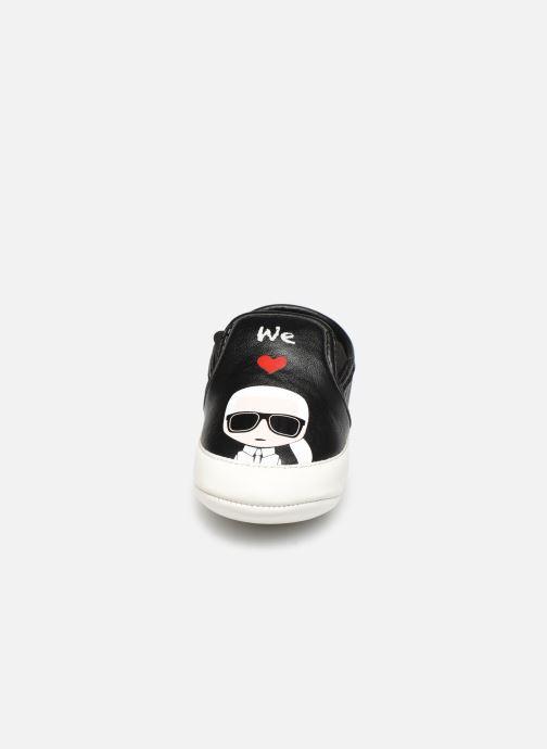 Pantofole Karl Lagerfeld Z99005 Nero modello indossato