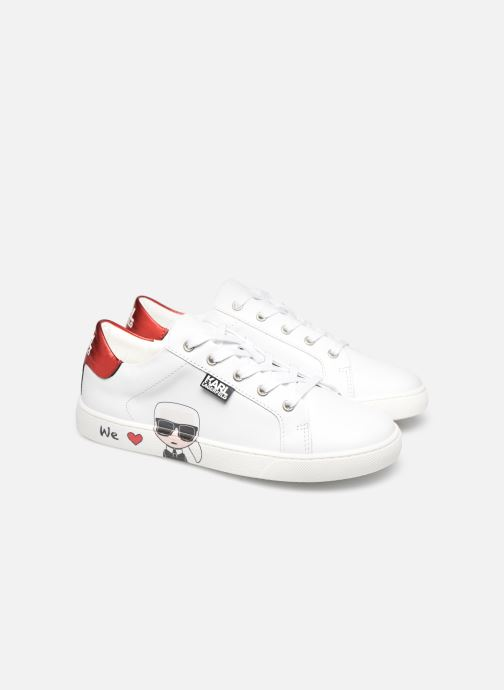 Deportivas Karl Lagerfeld Z19037 Blanco vista 3/4
