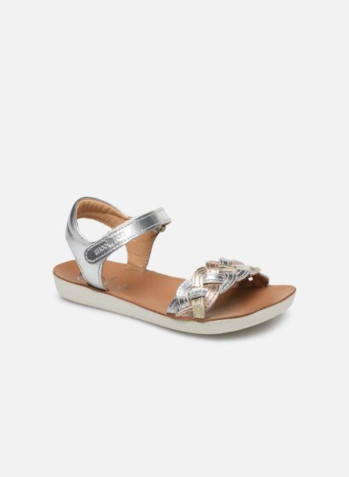 Sandales et nu-pieds Shoo Pom Goa Wowo Laminato Argent vue détail/paire