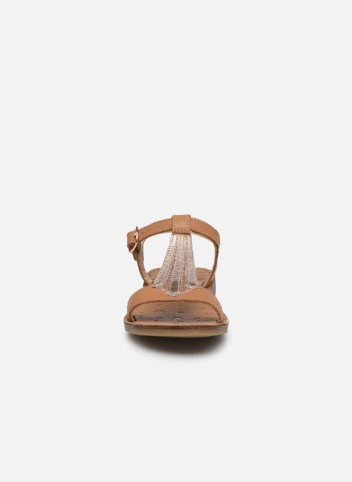 Sandales et nu-pieds Shoo Pom Happy Tie Marron vue portées chaussures