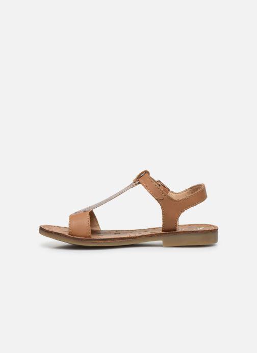 Sandales et nu-pieds Shoo Pom Happy Tie Marron vue face
