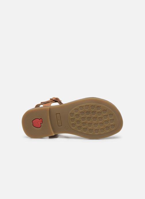 Sandales et nu-pieds Shoo Pom Happy Tie Marron vue haut