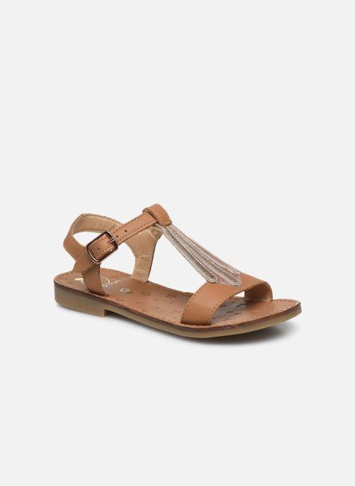 Sandales et nu-pieds Shoo Pom Happy Tie Marron vue détail/paire