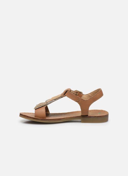 Sandales et nu-pieds Shoo Pom Happy Falls Marron vue face