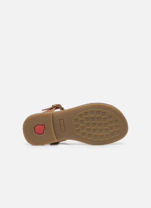 Sandales et nu-pieds Shoo Pom Happy Falls Marron vue haut
