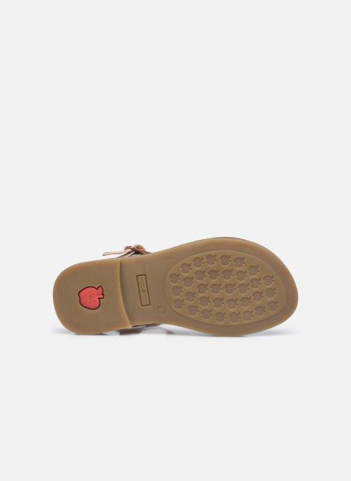 Sandales et nu-pieds Shoo Pom Happy Falls Argent vue haut