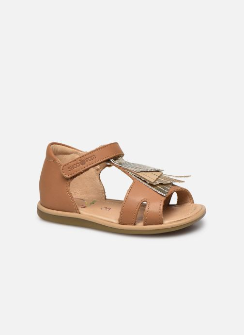 Sandales et nu-pieds Shoo Pom Tity Falls Marron vue détail/paire