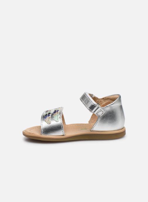 Sandales et nu-pieds Shoo Pom Tity Heart Argent vue face