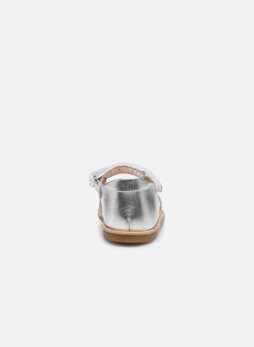 Sandales et nu-pieds Shoo Pom Tity Heart Argent vue droite
