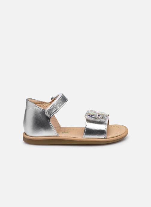 Sandales et nu-pieds Shoo Pom Tity Heart Argent vue derrière