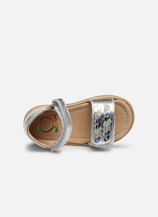 Sandales et nu-pieds Shoo Pom Tity Heart Argent vue gauche