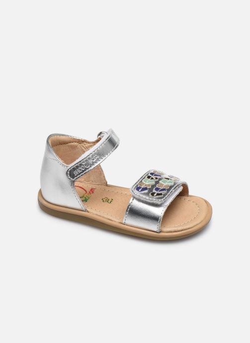 Sandales et nu-pieds Shoo Pom Tity Heart Argent vue détail/paire