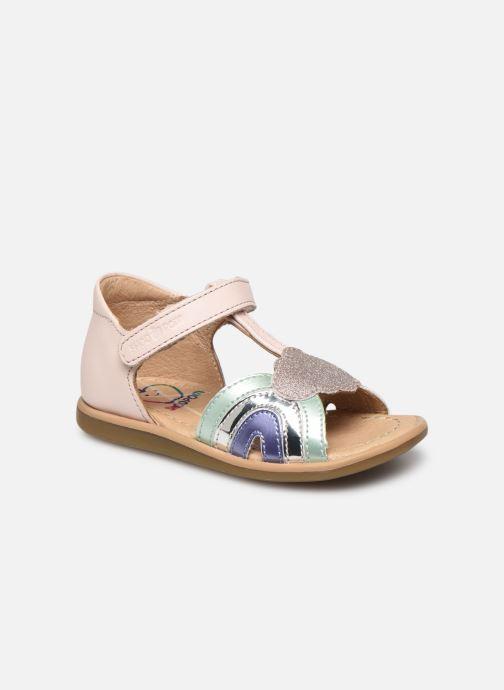 Sandales et nu-pieds Shoo Pom Tity Rainbow Rose vue détail/paire