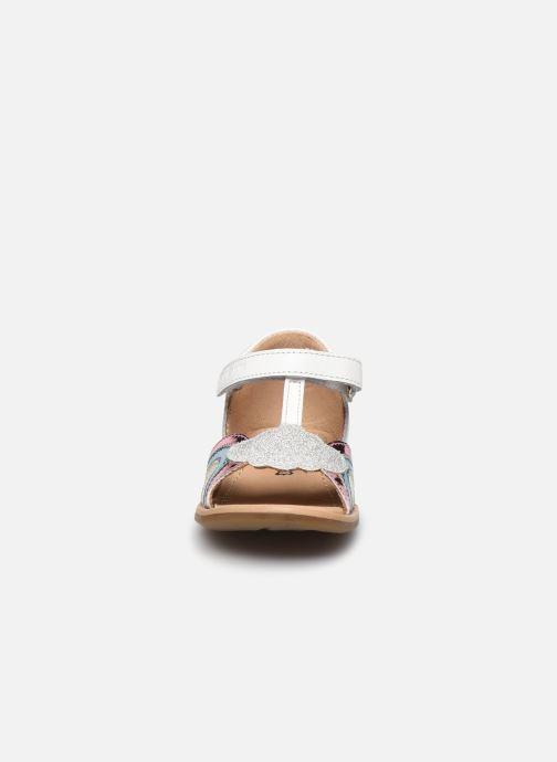 Sandales et nu-pieds Shoo Pom Tity Rainbow Argent vue portées chaussures