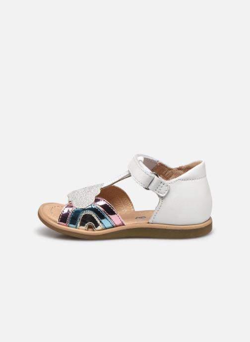 Sandales et nu-pieds Shoo Pom Tity Rainbow Argent vue face