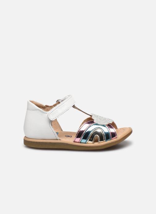 Sandales et nu-pieds Shoo Pom Tity Rainbow Argent vue derrière