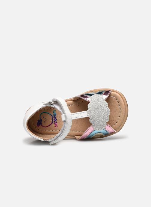 Sandales et nu-pieds Shoo Pom Tity Rainbow Argent vue gauche