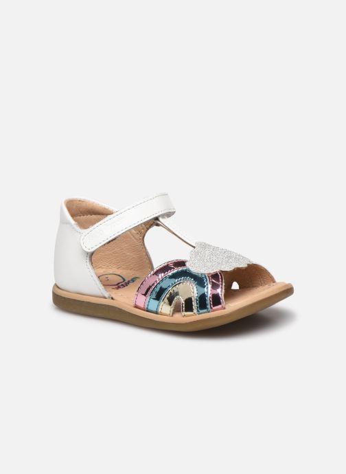Sandales et nu-pieds Shoo Pom Tity Rainbow Argent vue détail/paire
