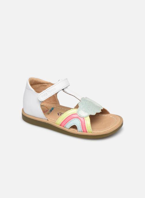 Sandales et nu-pieds Shoo Pom Tity Rainbow Blanc vue détail/paire
