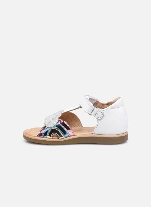 Sandali e scarpe aperte Shoo Pom Tity Rainbow Bianco immagine frontale