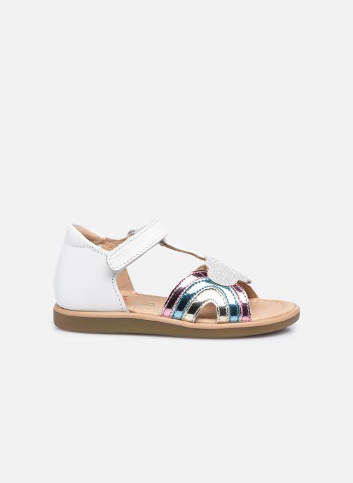 Sandali e scarpe aperte Shoo Pom Tity Rainbow Bianco immagine posteriore