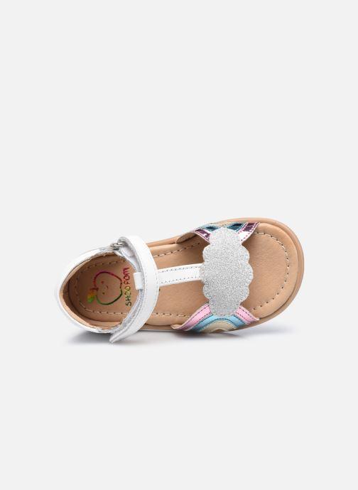 Sandali e scarpe aperte Shoo Pom Tity Rainbow Bianco immagine sinistra