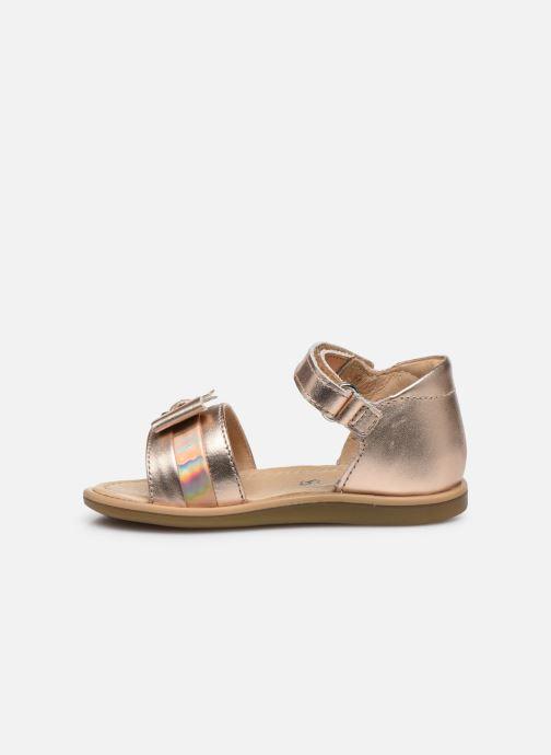 Sandali e scarpe aperte Shoo Pom Tity Knot Oro e bronzo immagine frontale