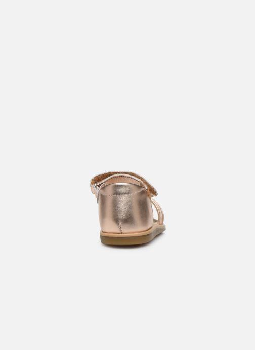 Sandali e scarpe aperte Shoo Pom Tity Knot Oro e bronzo immagine destra