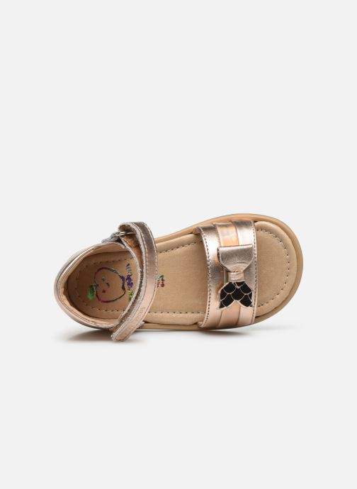 Sandali e scarpe aperte Shoo Pom Tity Knot Oro e bronzo immagine sinistra
