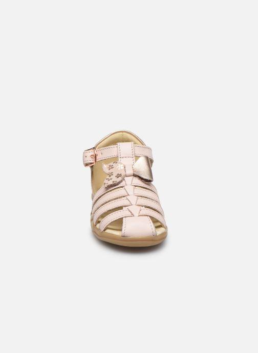 Sandales et nu-pieds Shoo Pom Pika Knot Rose vue portées chaussures
