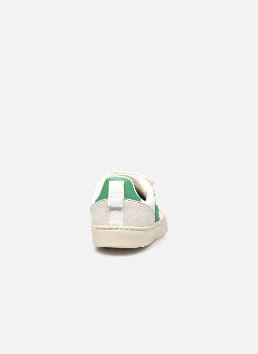 Baskets Veja Small V-10 Velcro Blanc vue droite