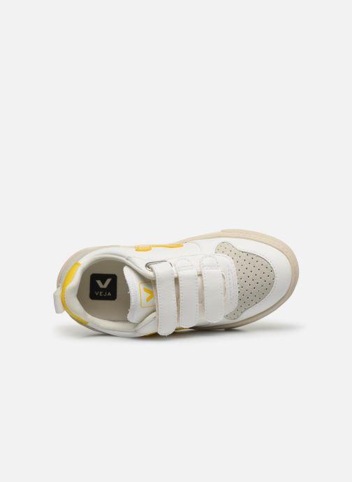 Baskets Veja Small V-10 Velcro Blanc vue gauche