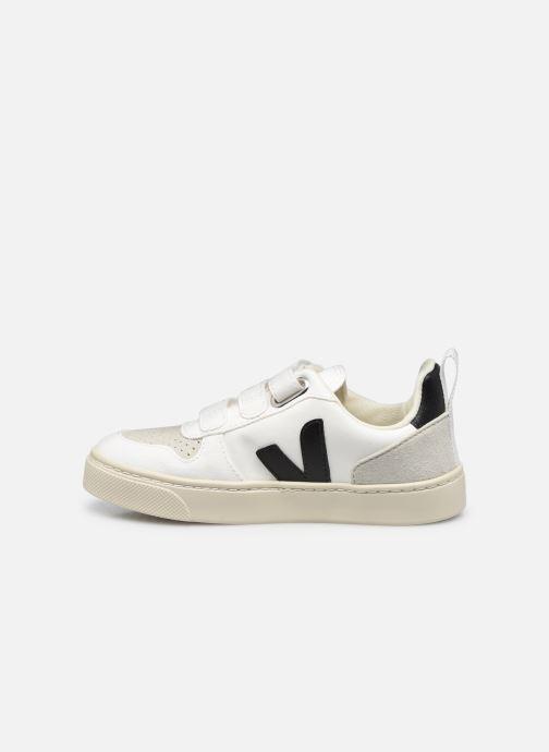 Sneaker Veja Small V-10 Velcro schwarz ansicht von vorne