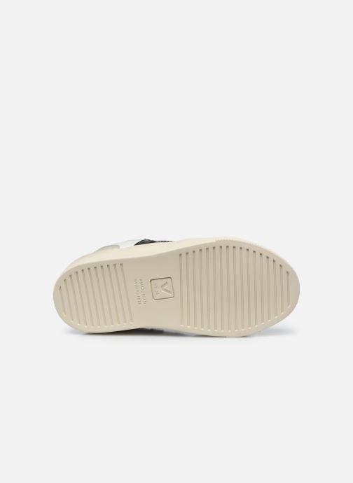 Sneaker Veja Small V-10 Velcro schwarz ansicht von oben