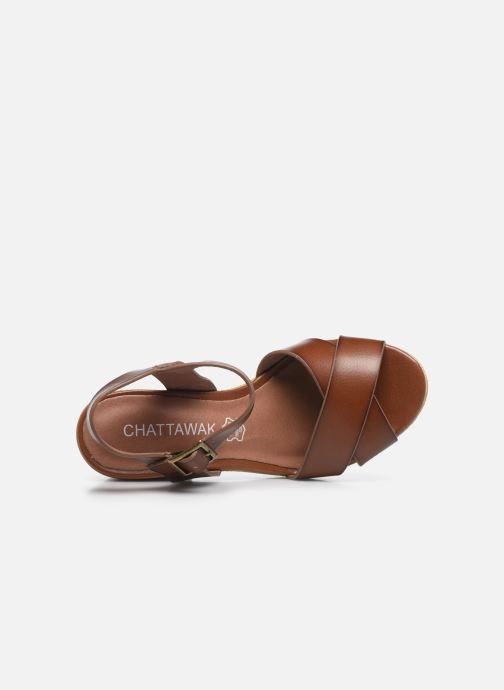 Sandali e scarpe aperte Chattawak HORTENSE Marrone immagine sinistra
