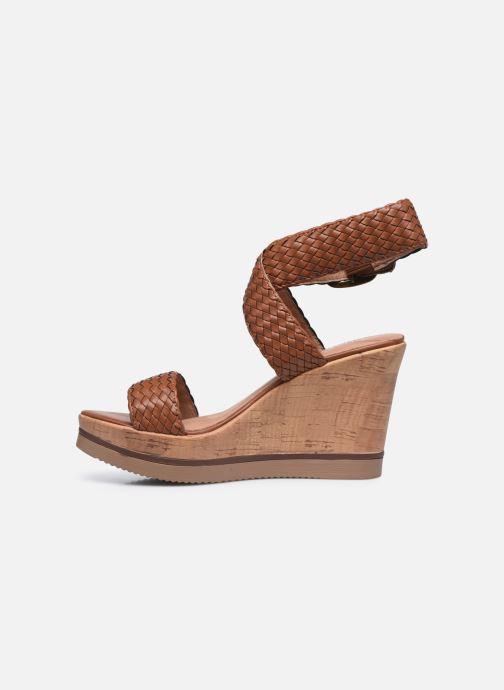 Sandales et nu-pieds Chattawak JANE Marron vue face