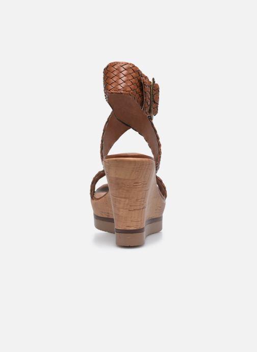 Sandales et nu-pieds Chattawak JANE Marron vue droite