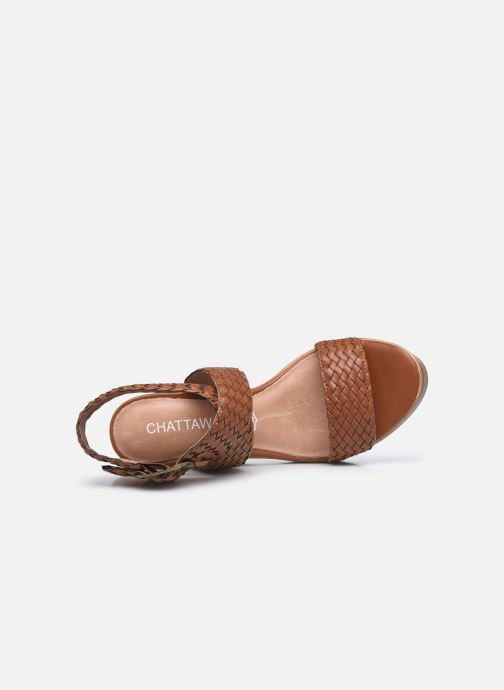 Sandales et nu-pieds Chattawak JANE Marron vue gauche