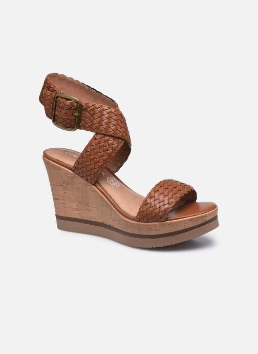 Sandales et nu-pieds Chattawak JANE Marron vue détail/paire