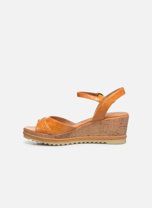 Sandales et nu-pieds Chattawak JODY Jaune vue face