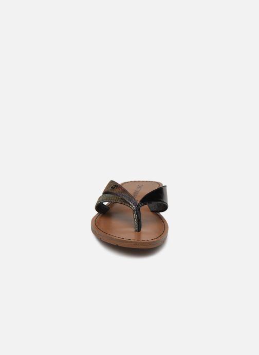 Tongs Chattawak KALINDA Noir vue portées chaussures