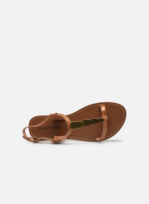 Sandales et nu-pieds Chattawak LUCINDA Marron vue gauche