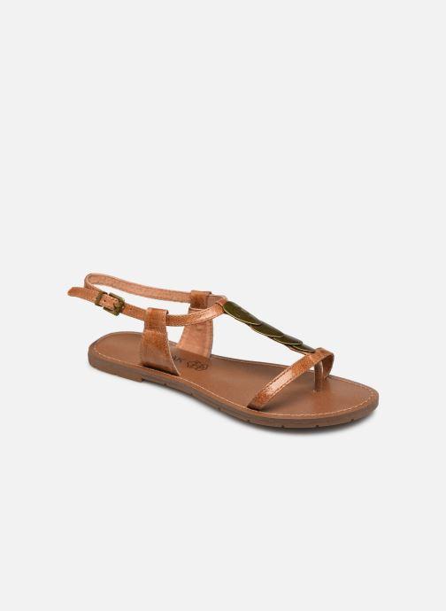 Sandales et nu-pieds Chattawak LUCINDA Marron vue détail/paire